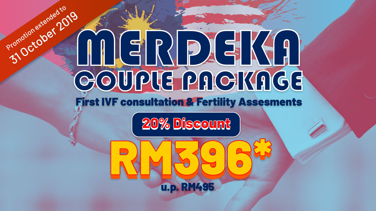 Merdeka Couple Package – First IVF Consultation & Fertility Assessments – 20% discount