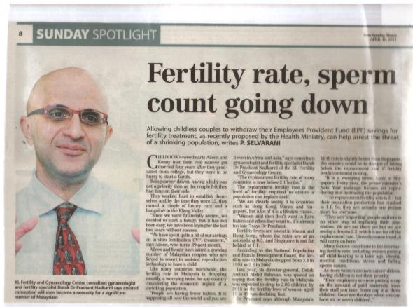 Fertility Rates & Sperm Count Down Pt1 - NST Apr 2011