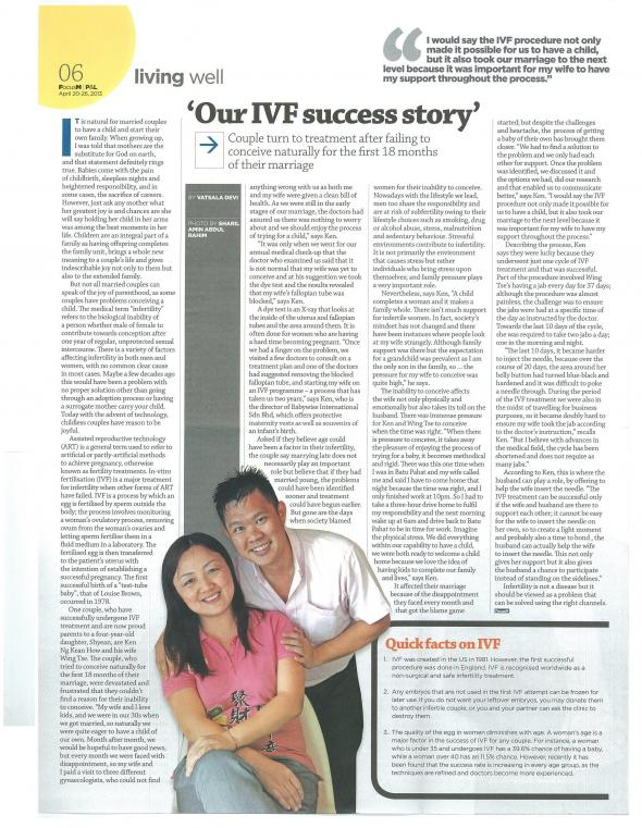 POSTED - FOCUS MALAYSIA - OUR IVF SUCCESS STORY