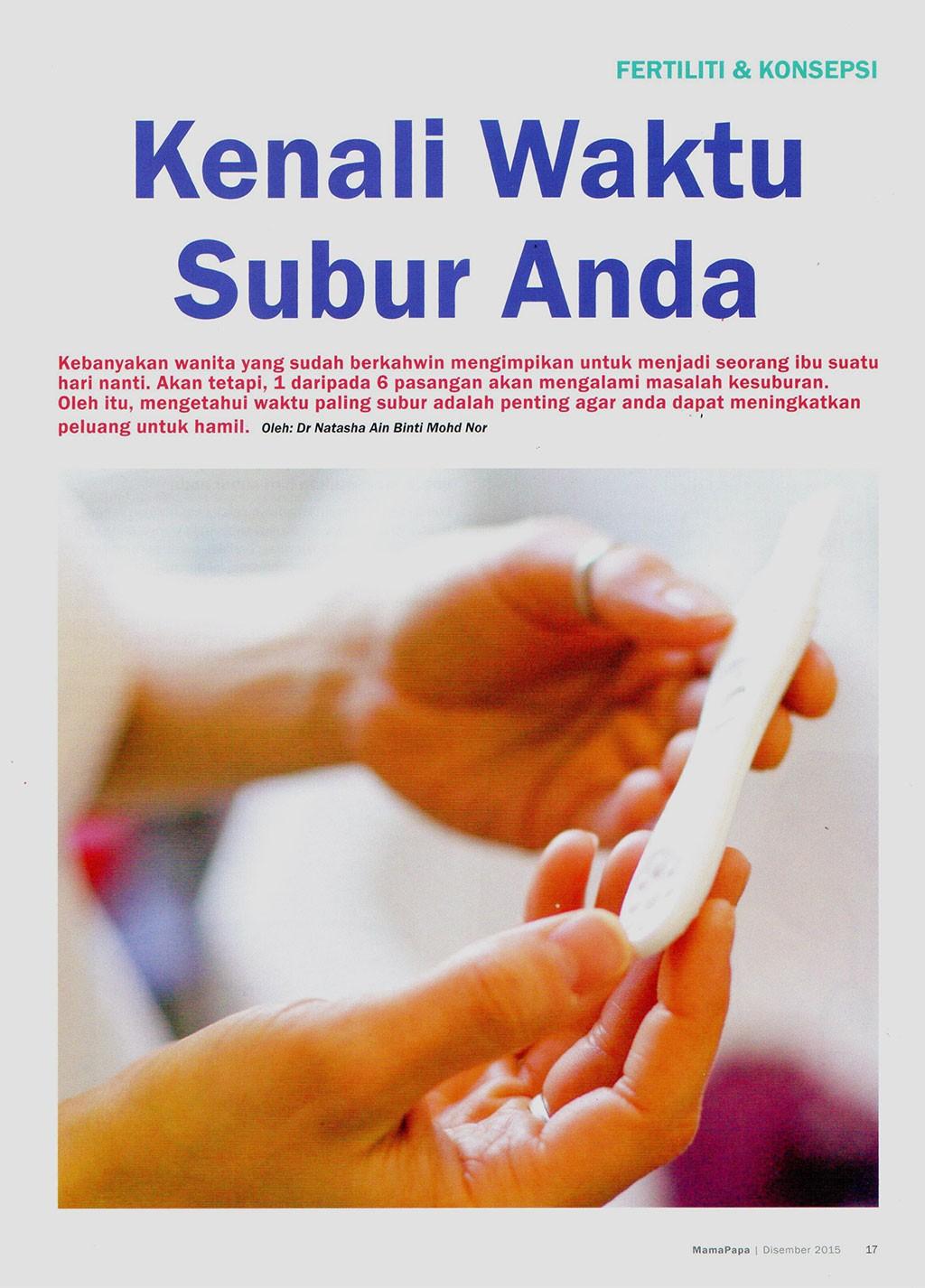 Kenali Waktu Subur Anda - MamaPapa (December 2015) page 17