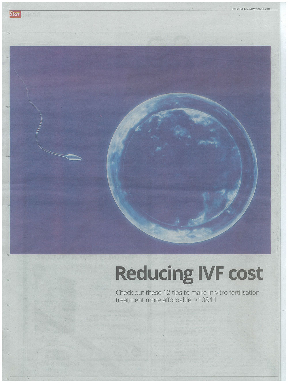 Reducing IVF Cost - The Star, Fit for Life (12 June 2016)