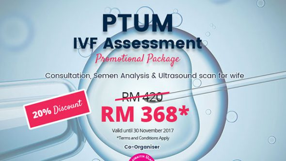 PTUM IVF Assessment Promotional Package - 20% discount