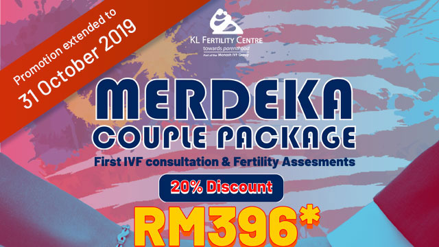 Merdeka Couple Package - First IVF Consultation & Fertility Assessments - 20% discount