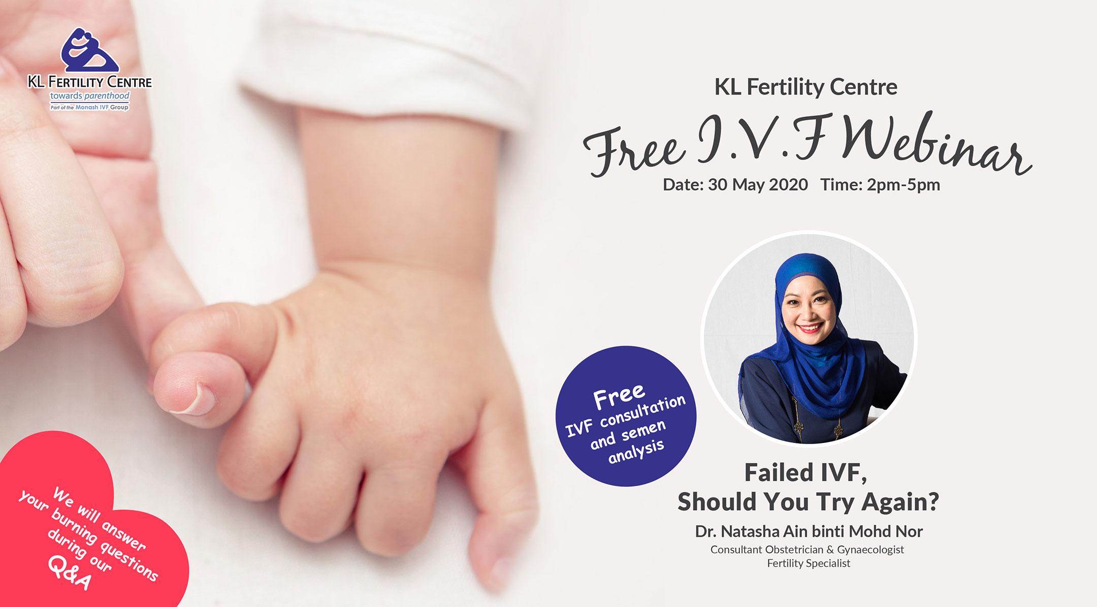 Free IVF Webinar 30 May 2020 - Dr. Natasha Ain binti Mohd Nor