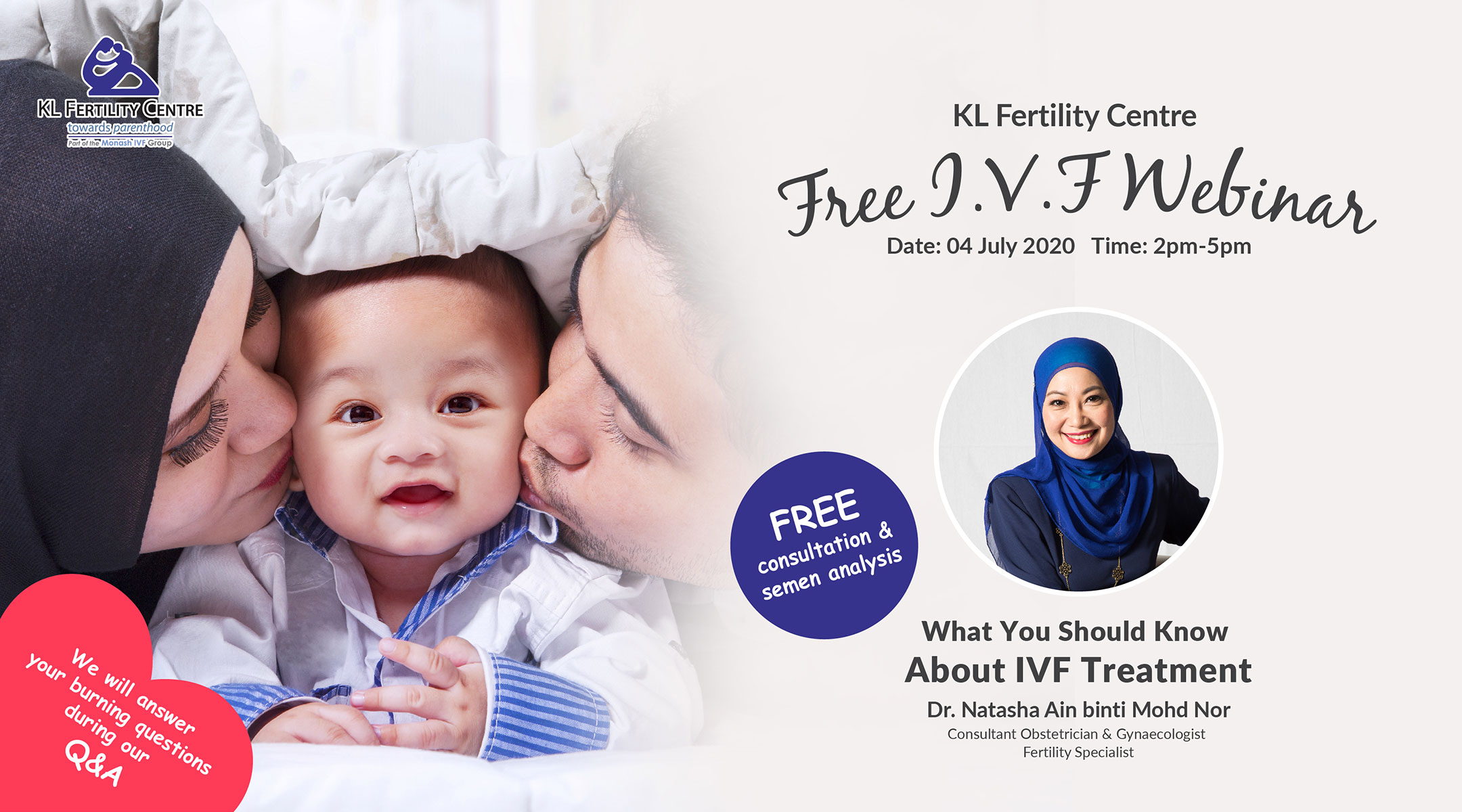 Free IVF Webinar 04 July 2020 - Dr. Natasha Ain binti Mohd Nor