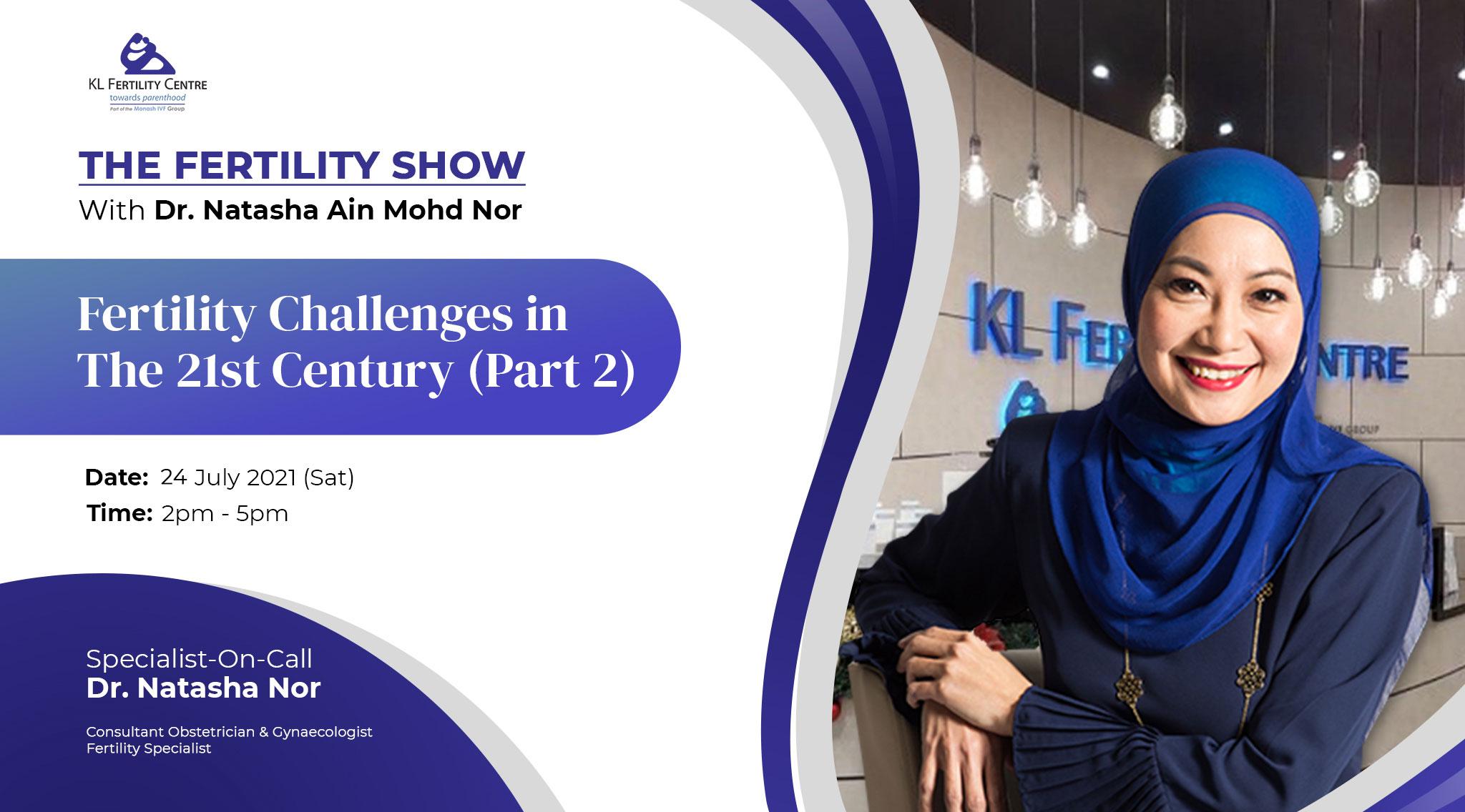 The Fertility Show : Fertility Challenges in The 21st Century (Part 2) - Dr. Natasha Nor